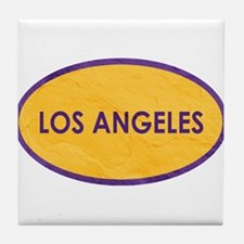 Los Angeles Yellow Stone Tile Coaster