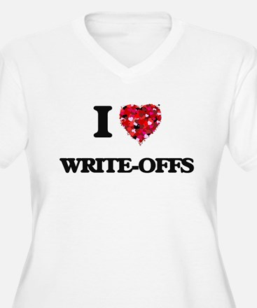 I love Write-Offs Plus Size T-Shirt