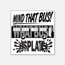 Splat (Black) Sticker