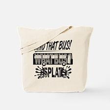 Splat (Black) Tote Bag