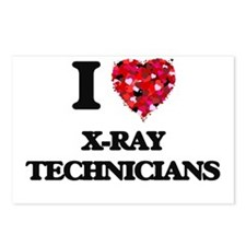 I love X-Ray Technicians Postcards (Package of 8)