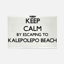 Keep calm by escaping to Kalepolepo Beach Magnets