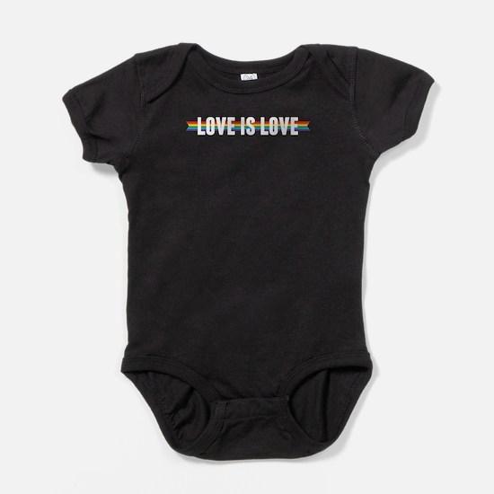 Love is Love Ribbon Baby Bodysuit