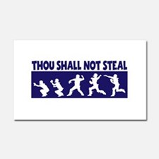 SHALL NOT STEAL Car Magnet 20 x 12
