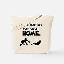 Waiting at Home Tote Bag