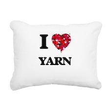 I love Yarn Rectangular Canvas Pillow