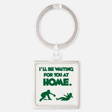 Waiting at Home Square Keychain