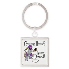 ACCESS DENIED Square Keychain