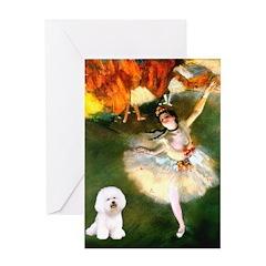 Ballet Dancer & Bichon Greeting Card