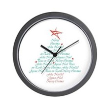 Multi Language Seasons Greetings Wall Clock