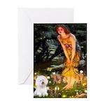 Fairies & Bichon Greeting Card