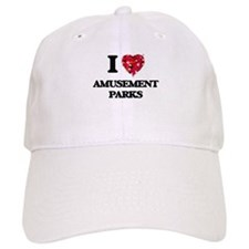 I love Amusement Parks Baseball Cap