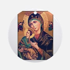 Virgin Mary - Our Lady of Per Ornament (Round)