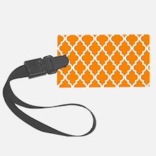 Orange Moroccan Pattern Luggage Tag