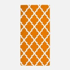 Orange Moroccan Pattern Beach Towel