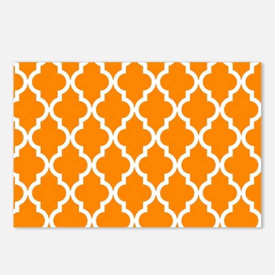 Orange: Quatrefoil Morocc Postcards (Package of 8)