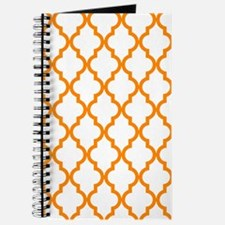 Orange: Quatrefoil Moroccan Pattern Journal