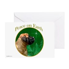 Peace on Earth apricot Greeting Card