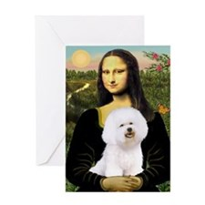 Mona's Bichon Greeting Card