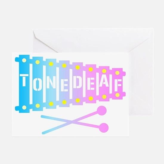 Tone Deaf Greeting Card