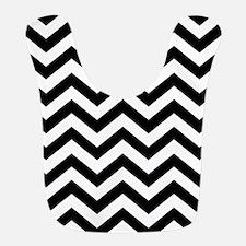 Black & White Chevron Pattern Bib