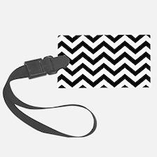 Black & White Chevron Pattern Luggage Tag