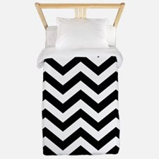 Black & White Chevron Pattern Twin Duvet