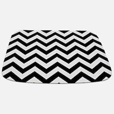 Black & White Chevron Pattern Bathmat