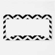 Black: Chevron Pattern License Plate Holder
