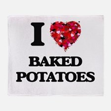 I love Baked Potatoes Throw Blanket