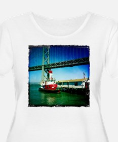 SF Fire Boat Plus Size T-Shirt