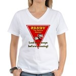 Randy Raccoon Women's V-Neck T-Shirt
