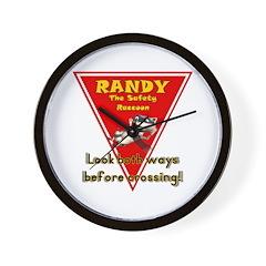 Randy Raccoon Wall Clock