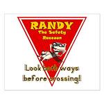 Randy Raccoon Small Poster
