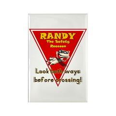Randy Raccoon Rectangle Magnet (10 pack)