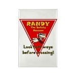Randy Raccoon Rectangle Magnet (100 pack)