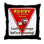 Randy Raccoon Throw Pillow