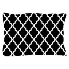 Black & White Moroccan Pattern Pillow Case