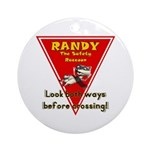 Randy Raccoon Ornament (Round)