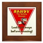 Randy Raccoon Framed Tile