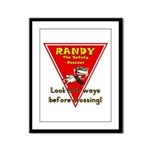 Randy Raccoon Framed Panel Print
