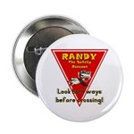 "Randy Raccoon 2.25"" Button (100 pack)"