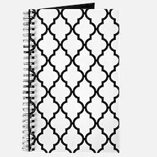 Black: Quatrefoil Moroccan Pattern Journal