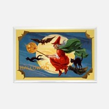 Halloween Flying Witch Rectangle Magnet (10 pack)