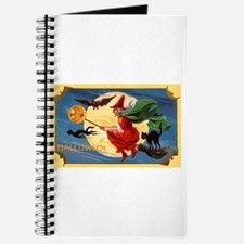 Halloween Flying Witch Journal