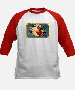 Halloween Flying Witch (Front) Kids Baseball Jerse