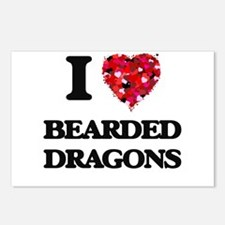 I love Bearded Dragons Postcards (Package of 8)