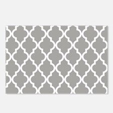 Gray Moroccan Pattern Postcards (Package of 8)