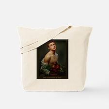 Boy With Basket Of Fruit Tote Bag