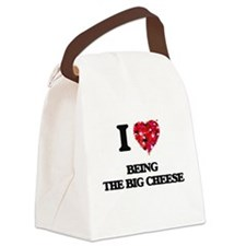 I love Being The Big Cheese Canvas Lunch Bag